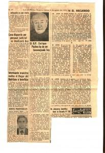 PADRE ENRIQUE PUCHEU LA CAPITAL 9 DE AGOSTO DE 1974